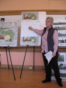 Lynn Wirta unveils the new playground plans