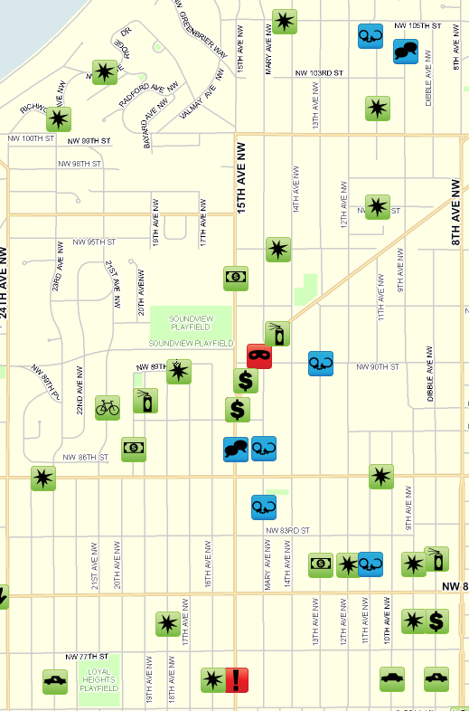 Crime Map of Crown Hill