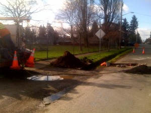 Utility work for Crown Hill Park