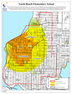 North Beach Elementary Transportation Zones