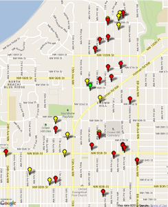 Garage  Sale Map and Listings 2013
