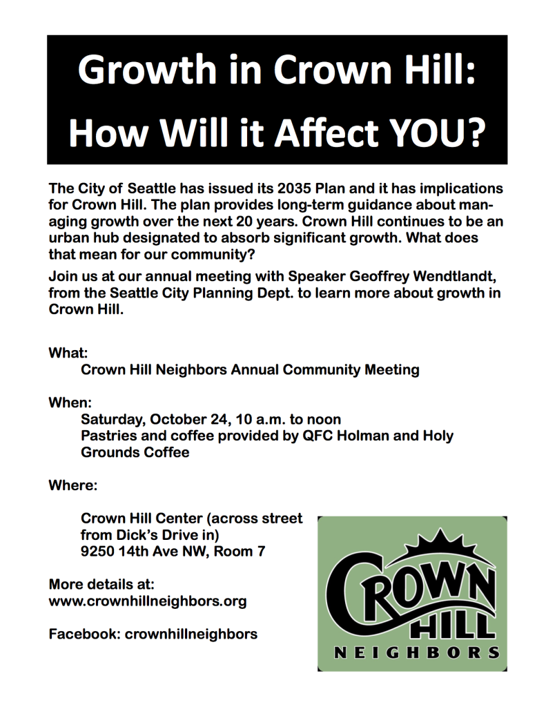 Community Meeting Flyer